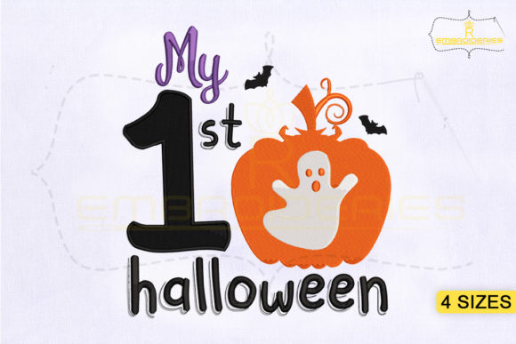 My First Halloween Halloween Embroidery Design By RoyalEmbroideries