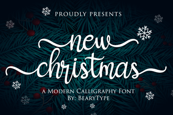 Print on Demand: New Christmas Script & Handwritten Font By LetterBeary