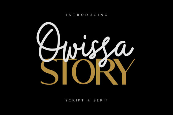 Print on Demand: Owissa Story Duo Script & Handwritten Font By Maulana Creative