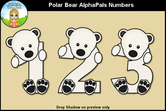 Print on Demand: Polar Bear AlphaPals Numbers Graphic Teaching Materials By Aisne Educlips