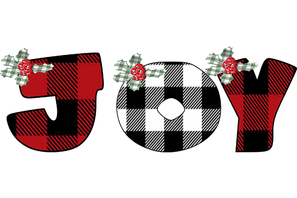 Print on Demand: Red & Black Plaid Letters Graphic Illustrations By arts4busykids