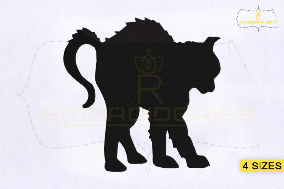 Scary Halloween Cat Halloween Embroidery Design By RoyalEmbroideries