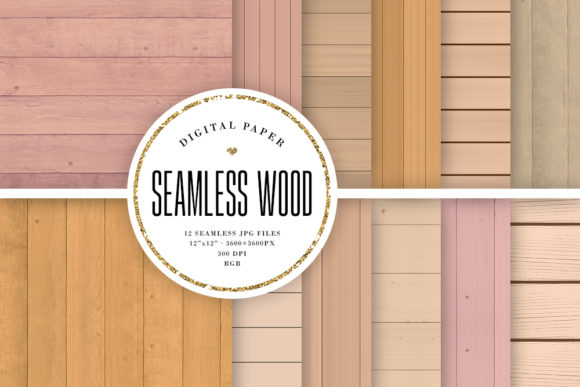 Print on Demand: Seamless Wood Backdrops Graphic Backgrounds By Sabina Leja