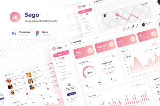 Print on Demand: Sego Food Restaurant Admin Dashboard UI Graphic UX and UI Kits By peterdraw