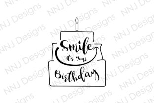 Print on Demand: Smile It's Your Birthday SVG HBD Cake Graphic Illustrations By NNJ Designs