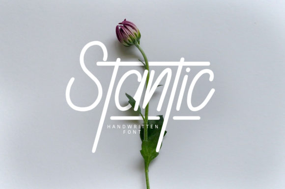 Print on Demand: Stantic Script & Handwritten Font By Maulana Creative