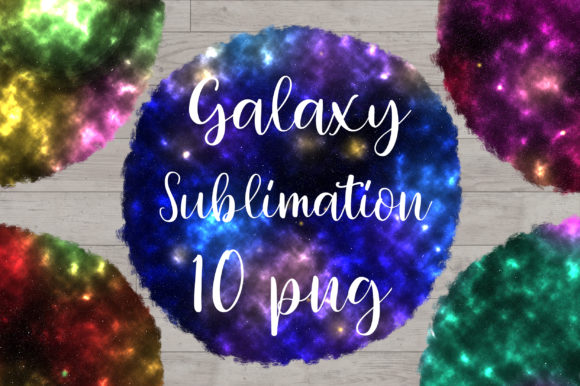 Sublimation Galaxy Background Graphic Backgrounds By PinkPearly
