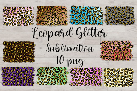 Sublimation Leopard Glitter Background Graphic Backgrounds By PinkPearly