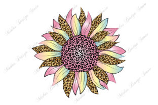 Sublimation - Pastel Leopard Sunflower Graphic Crafts By MidasStudio