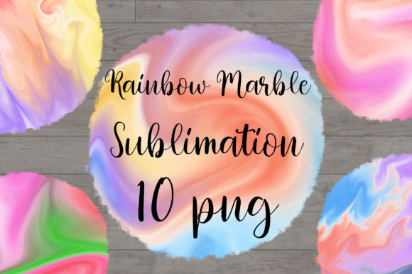 Sublimation Rainbow Marble Background Graphic Backgrounds By PinkPearly