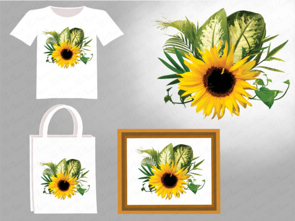 Sunflower Illustration Graphic Illustrations By PurMoon