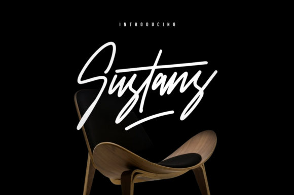Print on Demand: Sustans Script & Handwritten Font By Maulana Creative