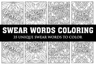 Print on Demand: Swear Words Coloring Book Graphic Coloring Pages & Books Adults By Gurus Kdp Templates