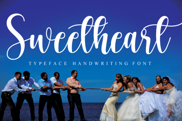 Print on Demand: Sweetheart Script & Handwritten Font By Micro77 type