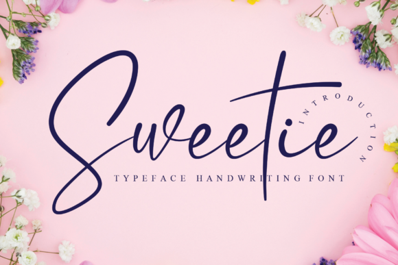 Print on Demand: Sweetie Script & Handwritten Font By Micro77 type