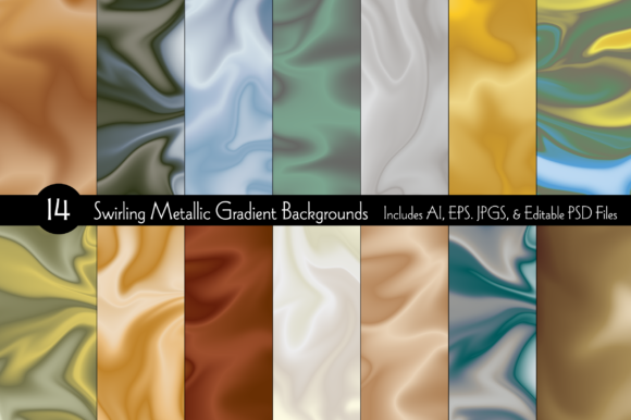 Swirling Gradient Backgrounds Graphic Backgrounds By Melissa Held Designs