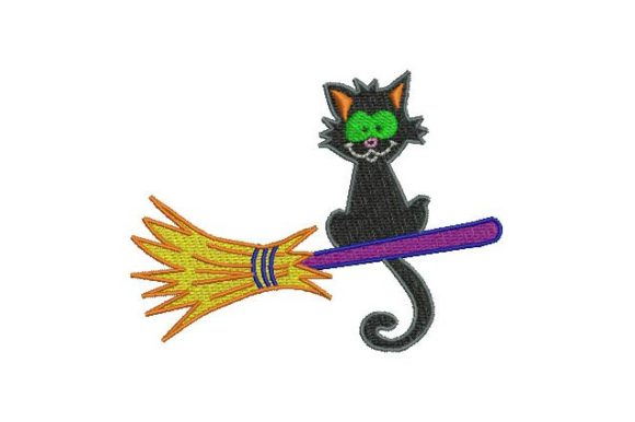 The Cat Halloween Embroidery Design By BabyNucci Embroidery Designs