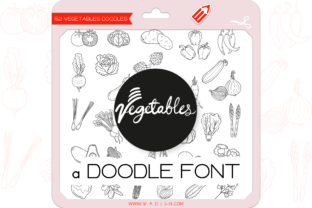 Print on Demand: The Vegetables Dingbats Font By WADLEN