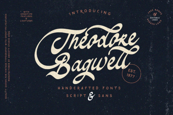 Print on Demand: Theodore Bagwell Script & Handwritten Font By lickermelody