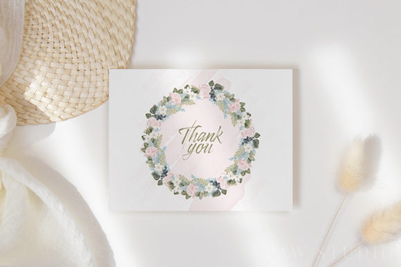 White Pink Flowers Winter Leaves Wedding Graphic Graphic
