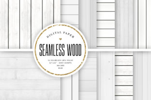 Print on Demand: White Wood Seamless Backdrops Graphic Backgrounds By Sabina Leja