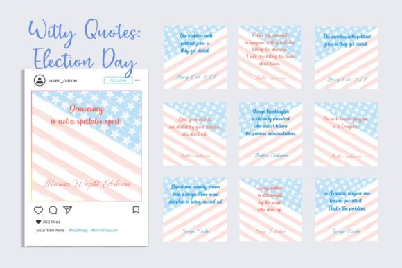 Witty Quotes for Election Day Graphic Websites By toei.storyline