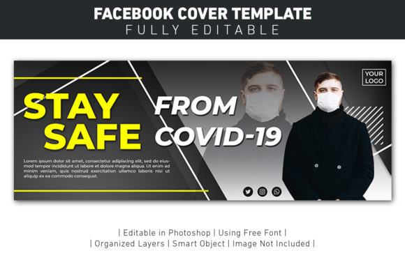 Banner Facebook Cover Stay Safe Covid Graphic Graphic Templates By ant project template