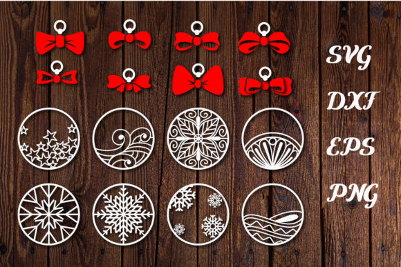 Print on Demand: Own Costumes Ribbons and Christmas Balls Graphic Print Templates By dadan_pm