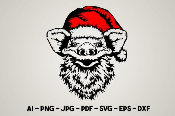 Pig Christmas Svg Graphic Print Templates By Euphoria Design