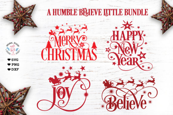 A Humble Believe Little Christmas Bundle Graphic Illustrations By GraphicHouseDesign