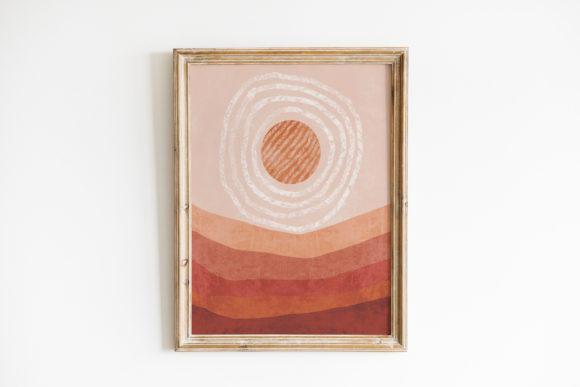 Print on Demand: Abstract Boho Landscape Poster. the Sun Graphic Print Templates By DaisyArtDecor