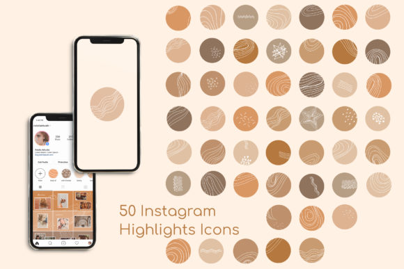 Print on Demand: Abstract Instagram Story Highlight Icons Graphic Icons By Natalia Arkusha