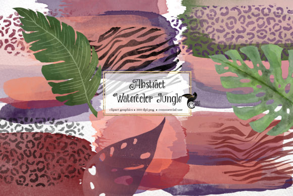 Abstract Watercolor Jungle Graphic