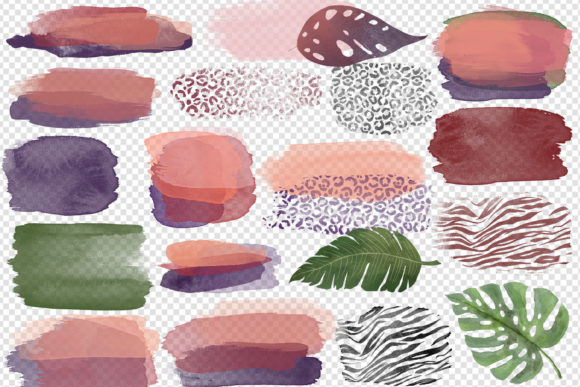 Abstract Watercolor Jungle Graphic Item