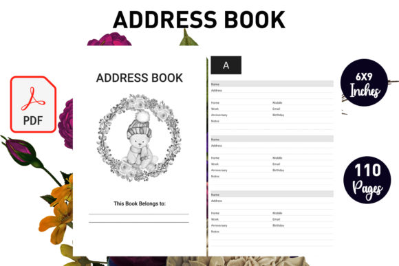 Print on Demand: Address Book  for KDP Low Content Book Graphic KDP Interiors By Gurus Kdp Templates