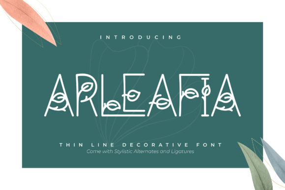 Print on Demand: Arleafia Decorative Font By Vunira