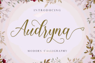 Print on Demand: Audryna Script & Handwritten Font By Suza Studio