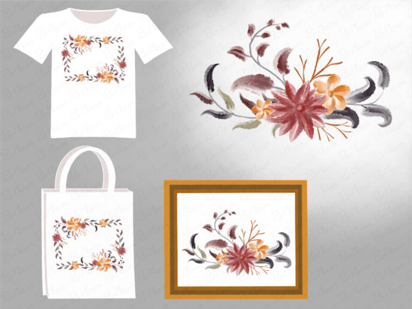 Autumn Flowers Graphic Illustrations By PurMoon