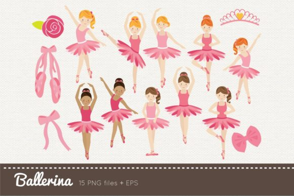 Ballerina Ballet Clipart Vector Graphic Illustrations By peachycottoncandy