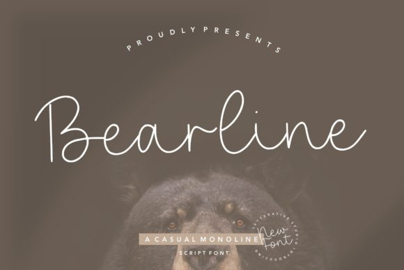Print on Demand: Bearline Script & Handwritten Font By letterativestudio