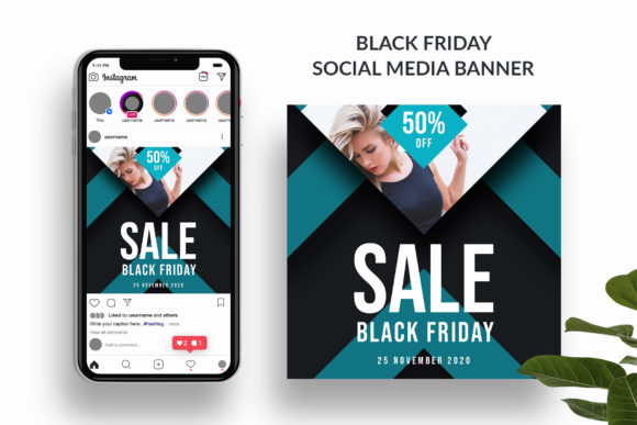 Black Friday Social Media Banner Graphic By Pixelpick Creative Fabrica