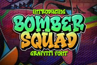 Print on Demand: Bomber Squad Display Font By Blankids Studio