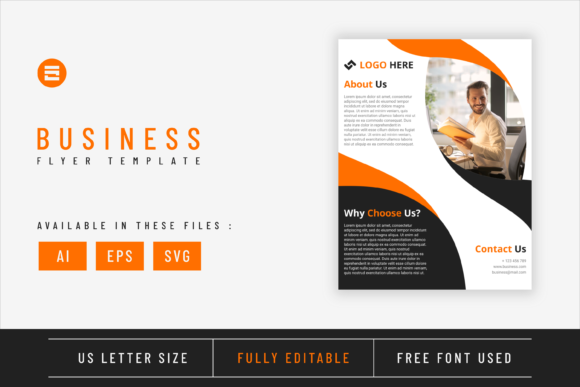 Business Flyer Template Amber Geometry Graphic Print Templates By Saidi Creative
