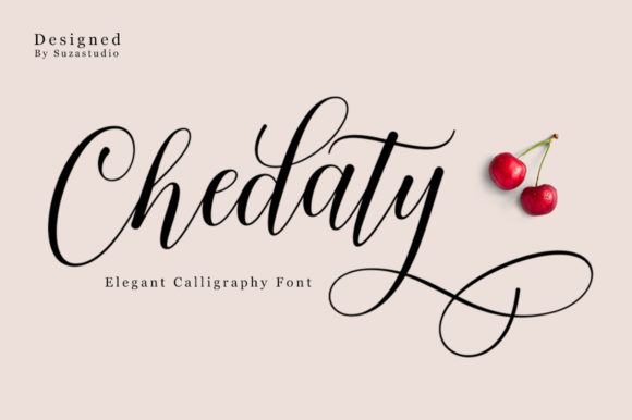 Print on Demand: Chedaty Script & Handwritten Font By Suza Studio