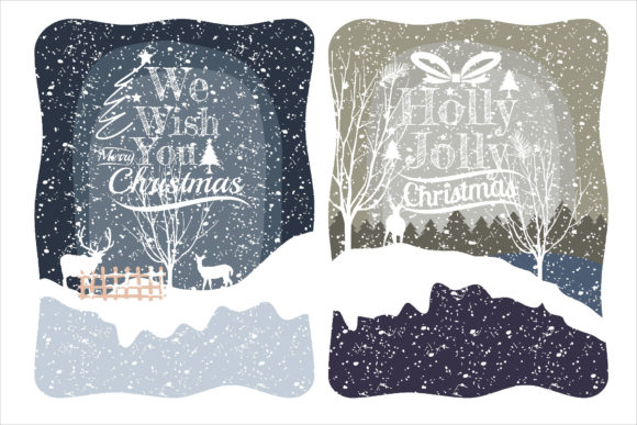 Print on Demand: Christmas Amazing Illustration with Snow Graphic Illustrations By edywiyonopp