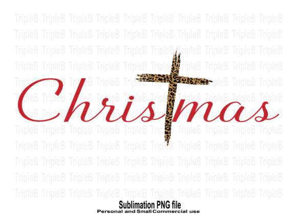 Print on Demand: Christmas Cross Leopard Sublimation Graphic Crafts By TripleBcraft