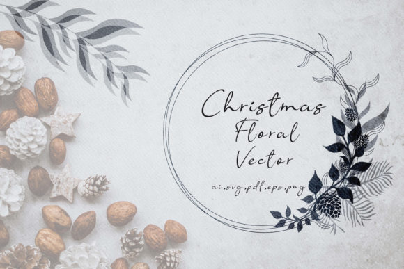 Print on Demand: Christmas Floral Graphic Illustrations By 3Motional