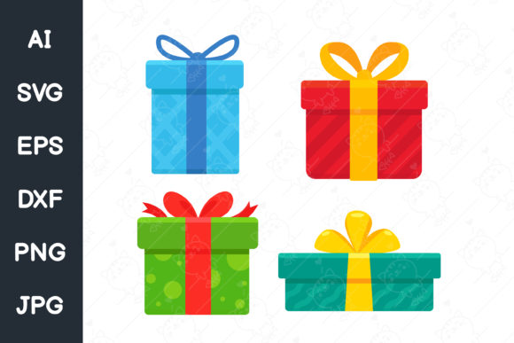 Christmas Gift Box Graphic Illustrations By CRStocker