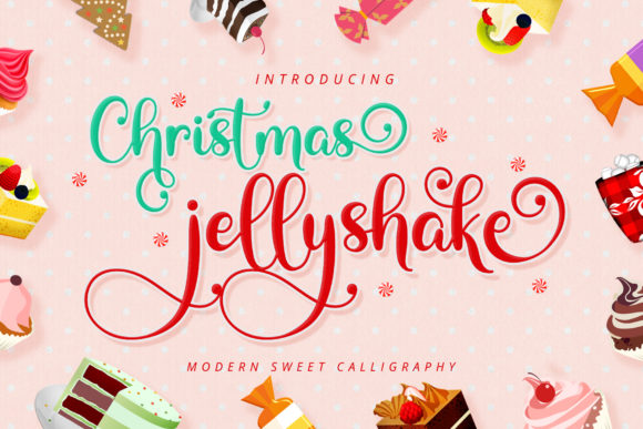 Print on Demand: Christmas Jellyshake Script & Handwritten Font By airotype