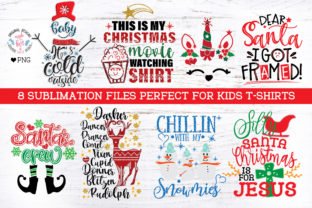 Christmas Kids T-shirts Sublimation PNG Graphic Illustrations By GraphicHouseDesign